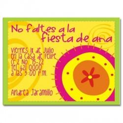 c0008 - Invitaciones de cumpleaños - Flores.