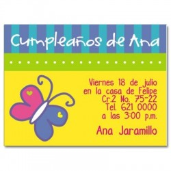 c0009 - Invitaciones de cumpleaños - Mriposa.