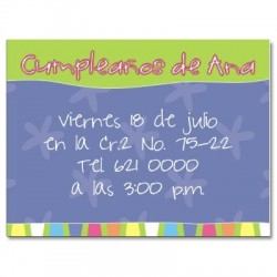c0010 - Invitaciones de cumpleaños - Flores.