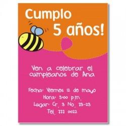 c0018 - Invitaciones de cumpleaños -  Abeja.