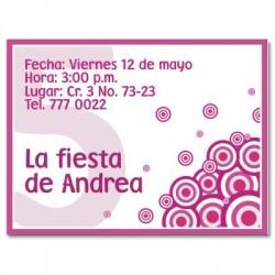 c0023 - Invitaciones de cumpleaños - Flores.