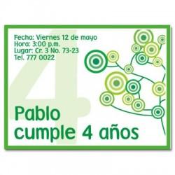 c0025 - Invitaciones de cumpleaños - Circulos.