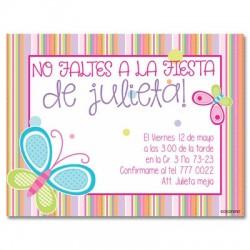 c0038 - Invitaciones de cumpleaños - Mariposa.