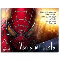 c0064 - Invitaciones de cumpleaños - Spiderman.