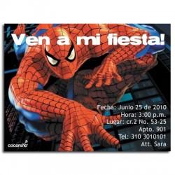 c0065 - Invitaciones de cumpleaños - Spiderman.
