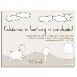 c0076 - Invitaciones de cumpleaños - Burro.