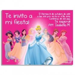 c0078 - Invitaciones de cumpleaños - Princesas.