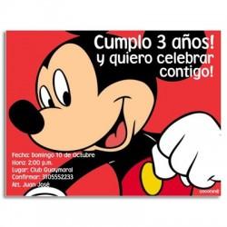 c0079 - Invitaciones de cumpleaños - Mikey mouse.