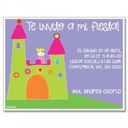 c0085 - Invitaciones de cumpleaños - Princesas.