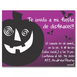 c0090 - Invitaciones de cumpleaños - Halloween.