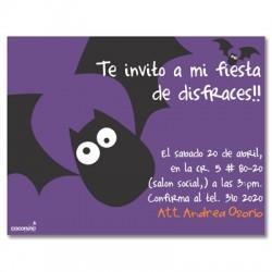 c0092 - Invitaciones de cumpleaños - Halloween