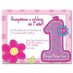 c0094 - Invitaciones de cumpleaños - Flores.