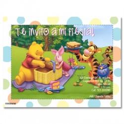c0098 - Invitaciones de cumpleaños -  Winnie pooh