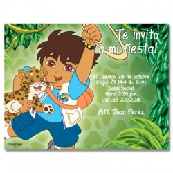 c0099 - Birthday invitations - Go diego go