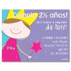 c0117 - Invitaciones de cumpleaños - Princesas