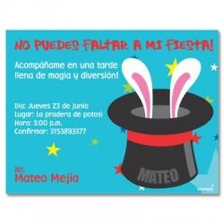 c0119 - Birthday invitations - Magic