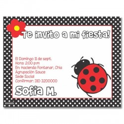 c0121 - Birthday invitations - coccinelle
