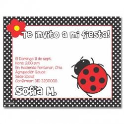 c0121 - Invitaciones de cumpleaños - Mariquita