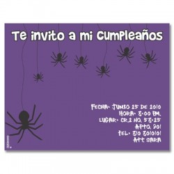 c0126 - Birthday invitations - Halloween