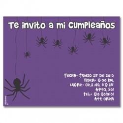 c0126 - Invitaciones de cumpleaños - Halloween
