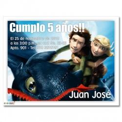 c0130 - Invitaciones de cumpleaños - Como entrenar a tu dragon