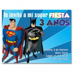 c0133 - Invitaciones de cumpleaños - Super heroes