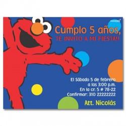 c0138 - Invitaciones de cumpleaños - Elmo