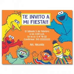 c0140 - Invitaciones de cumpleaños - Plaza sesamo