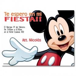c0142 - Invitaciones de cumpleaños - Mickey mouse