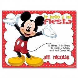 c0143 - Birthday invitations -  Mickey mouse