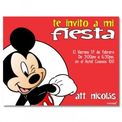 c0144 - Birthday invitations -  Mickey mouse