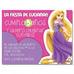 c0147 - Birthday invitations - Princess