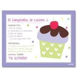 c0150 - Invitaciones de cumpleaños - Cup cakes