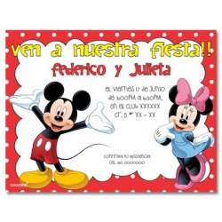 c0151 - Birthday invitations - Mickey mouse