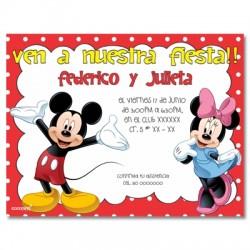 c0151 - Invitaciones de cumpleaños - Mickey mouse