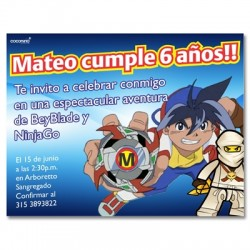c0155 - Birthday invitations - BeyBlade