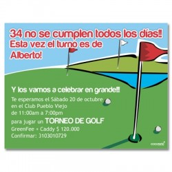 c0156 - Invitaciones de cumpleaños - Golf