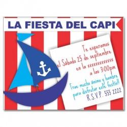 c0163 - Invitaciones de cumpleaños - Pirata