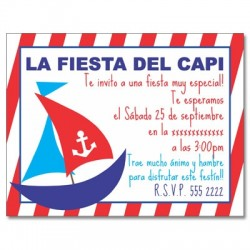 c0167 - Birthday invitations - boat
