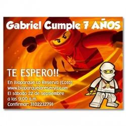 c0168 - Invitaciones de cumpleaños - Ninja go