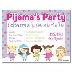 c0169 - Birthday invitations - Pajama