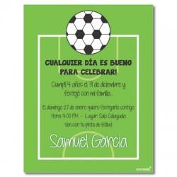 c0170 - Invitaciones de cumpleaños - Fútbol 1