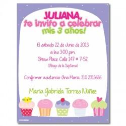 c0179 - Invitaciones de cumpleaños - 3 años