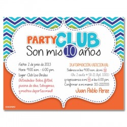 c0180 - Birthday invitations - Club