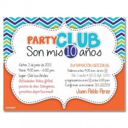c0180 - Invitaciones de cumpleaños - Club