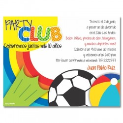 c0181 - Invitaciones de cumpleaños - Club 2