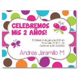 c0184 - Birthday invitations - 2 years