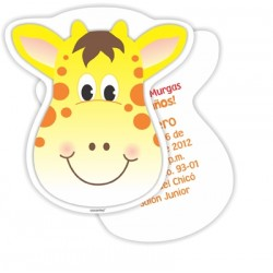 c0193 - Birthday invitations - giraffe