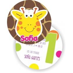 c0196 - Invitaciones de cumpleaños - jirafa 2