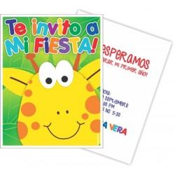 c0202 - Invitaciones de cumpleaños - jirafa 3